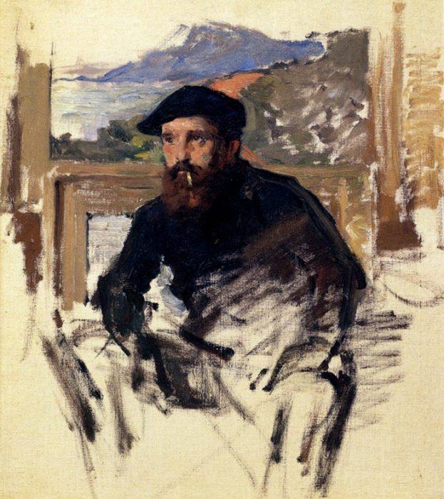 Claude Monet, Self Portrait in His Atelier (Unfinished Image), 1884