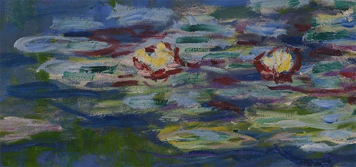 Claude Monet, Water Lilies, 1916 (Closeup 1)
