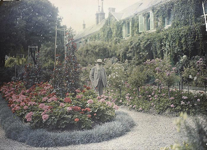 Claude Monet in Front of His House at Giverny, 1921
