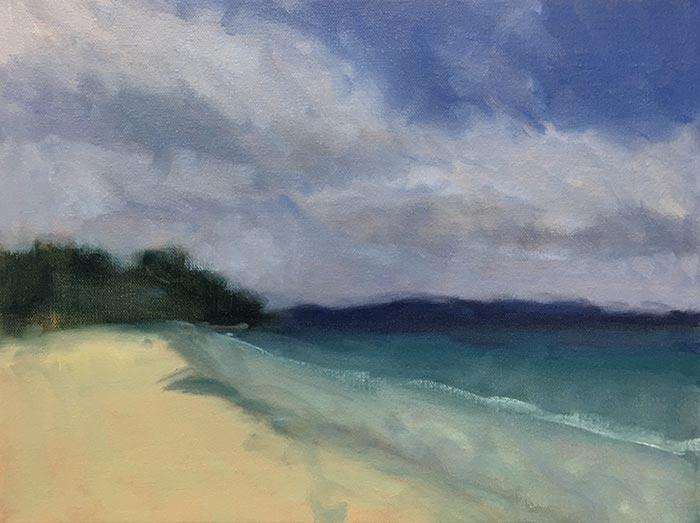 Dan Scott, Tasmania Seascape, 2018 - Work in Progress