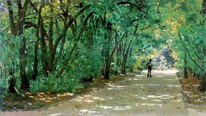 Ilya Repin, Alley in the Park, Kachanivka, 1880