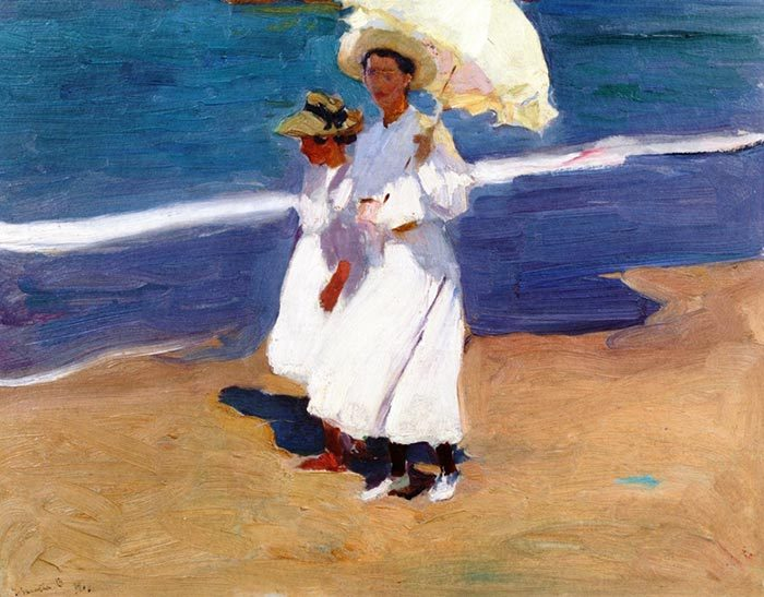 Joaquín Sorolla, On the Coast, 1906
