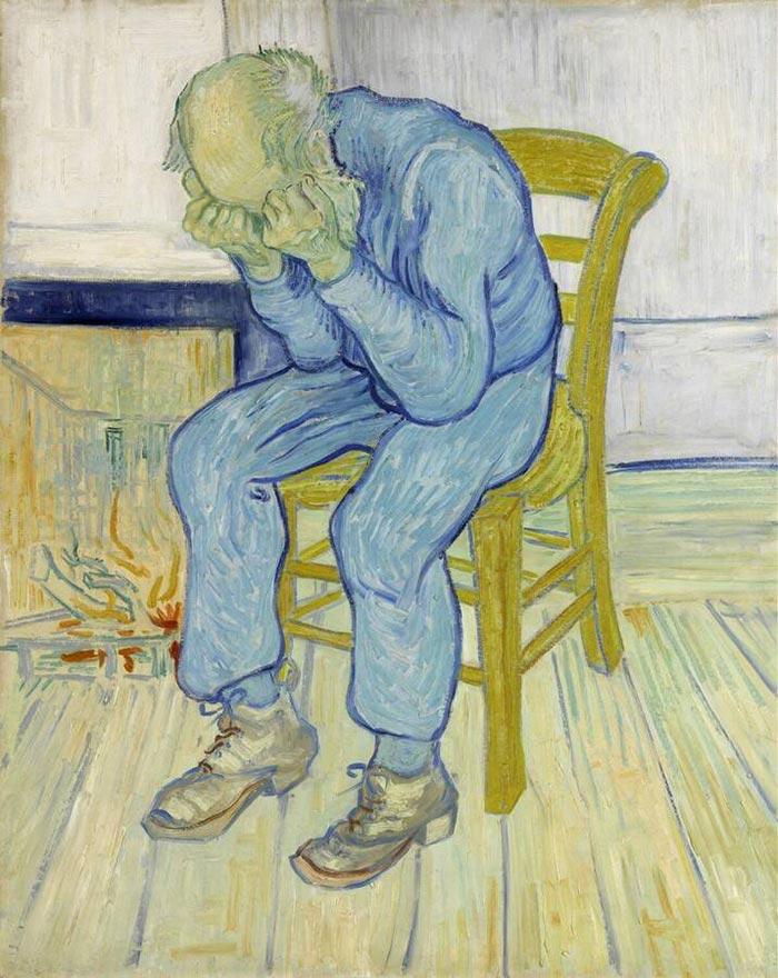 Vincent van Gogh, Sorrowing Old Man (At Eternity's Gate), 1890