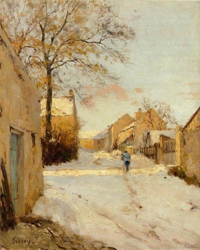 Alfred Sisley, A Village Street in Winter, 1893