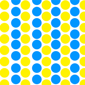 Optical Color Mixing - Blue and Yellow Circles