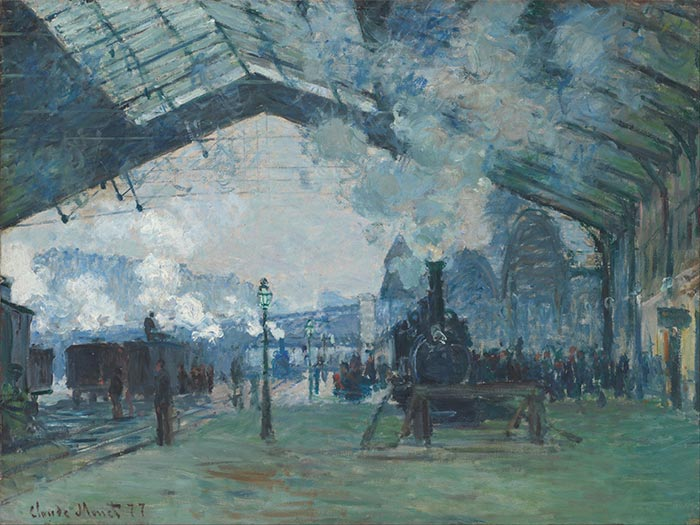 Claude Monet, Arrival of the Normandy Train, Gare Saint-Lazare, 1877
