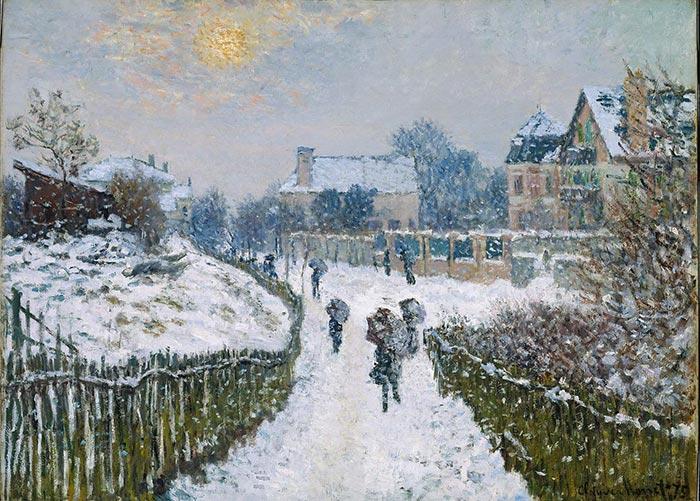 Claude Monet, Boulevard Saint-Denis, Argenteuil, in Winter, 1875