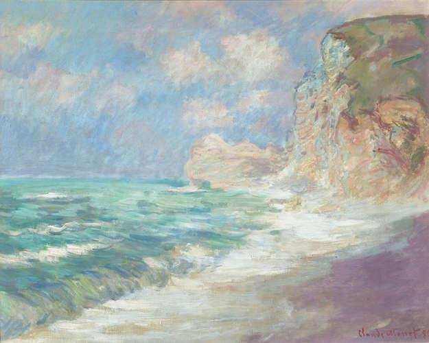 Claude Monet, Falaise Et Porte D'Amont Par Gros Temps, 1886