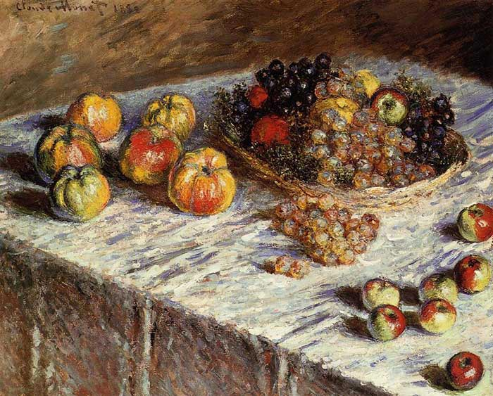 Claude Monet, Still Life with Apples and Grapes, 1880