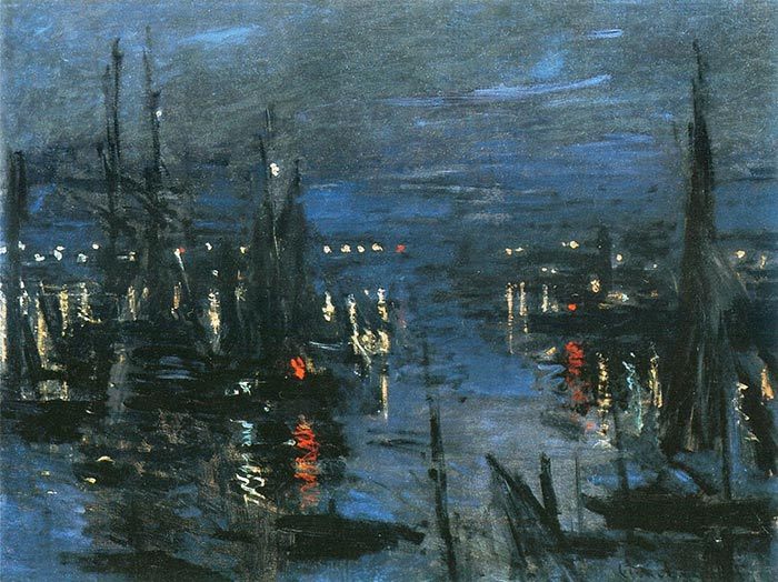 Claude Monet, The Port of Le Havre, Night Effect, 1873