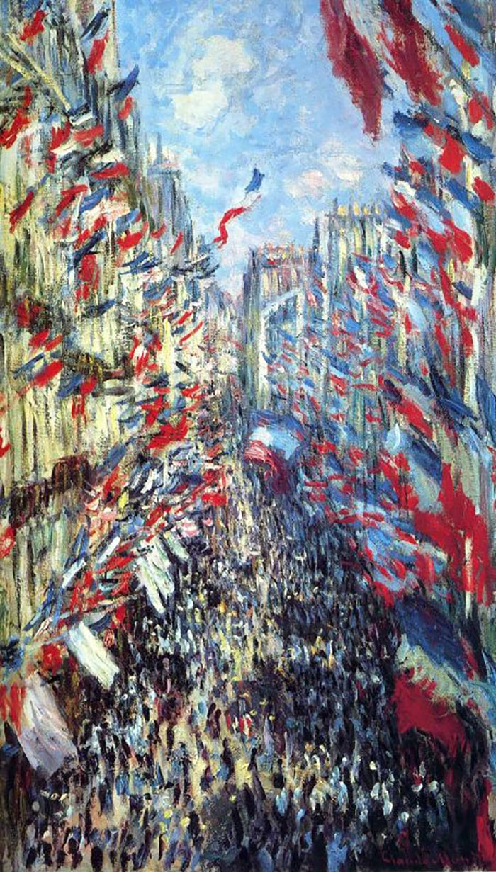 Claude Monet, The Rue Montorgueil in Paris, Festival 1878