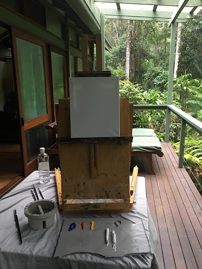Crystal Creek Forest Painting Set Up