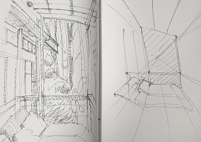 Crystal Creek Forest Sketch