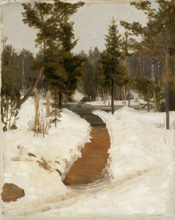 Ilya Efimovich Repin, Winter Landscape, 1903