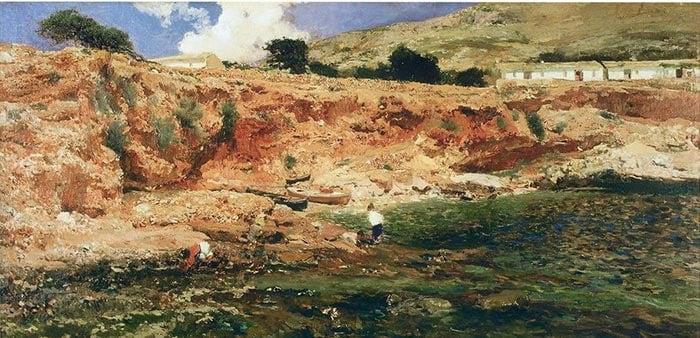 Joaquín Sorolla, Cove, Javea, 1898
