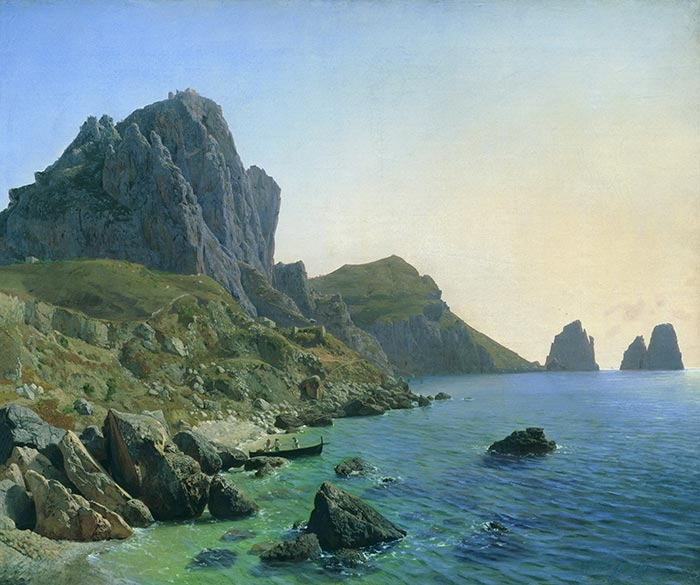 Lev Feliksovich Lagorio, on the Island of Capri. Cliffs, 1859