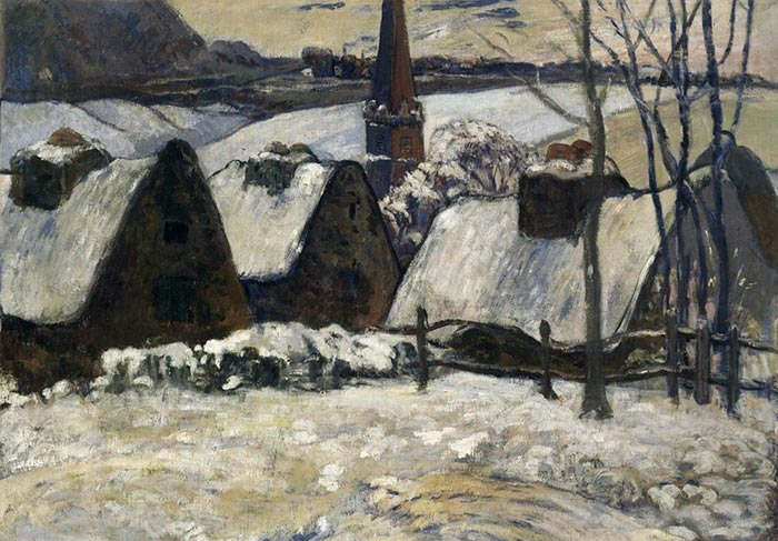 Paul Gaugin, Breton Village Under Snow, 1894