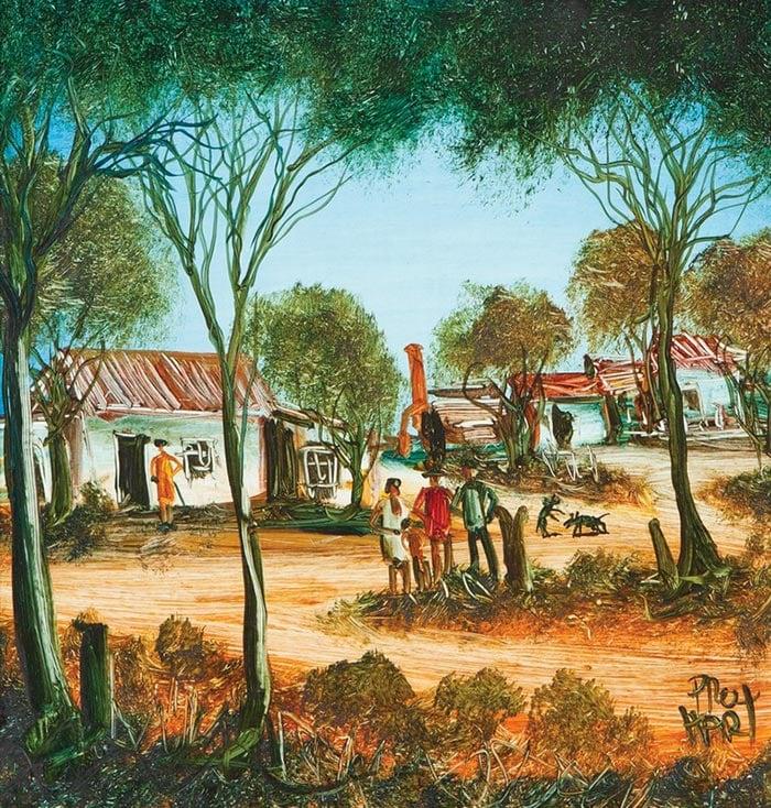 Pro Hart, Miner's Cottages