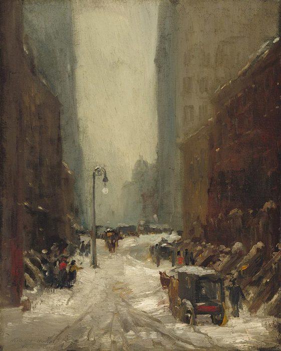 Robert Henri, Snow in New York, 1902