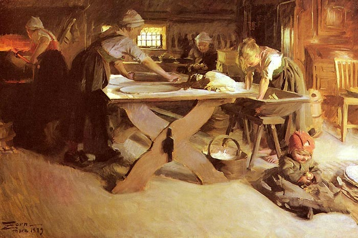 Anders Zorn, Bread Baking, 1889