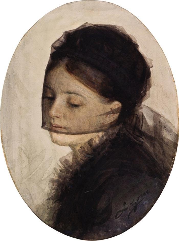Anders Zorn, de luto, 1880