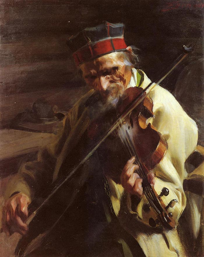 Anders Zorn, Musician, 1914