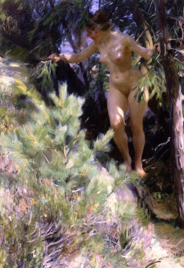 Anders Zorn, Nude Under a Fir, 1892