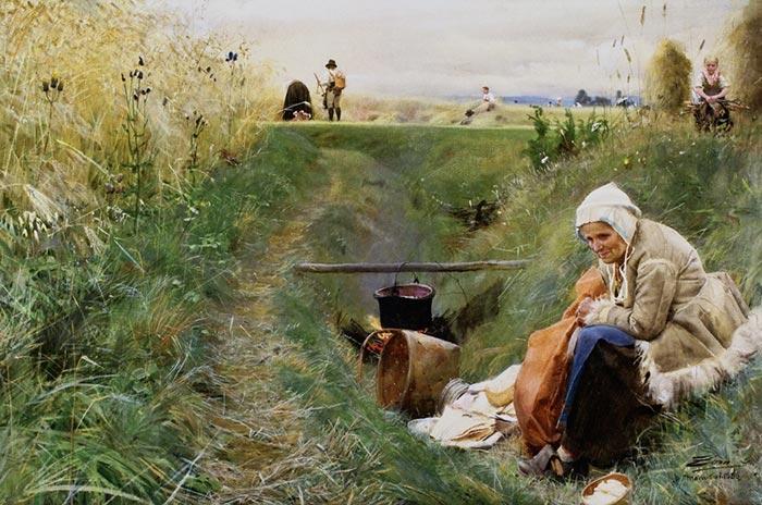 Anders Zorn, Nuestro pan de cada día, 1886