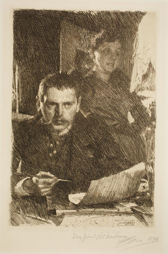 Anders Zorn, Zorn y su esposa, 1890