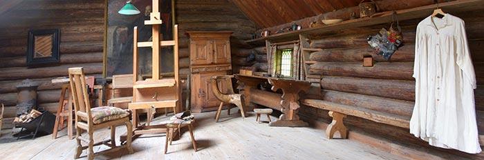 El taller de Anders Zorn en su casa, ZorngåRden en Mora