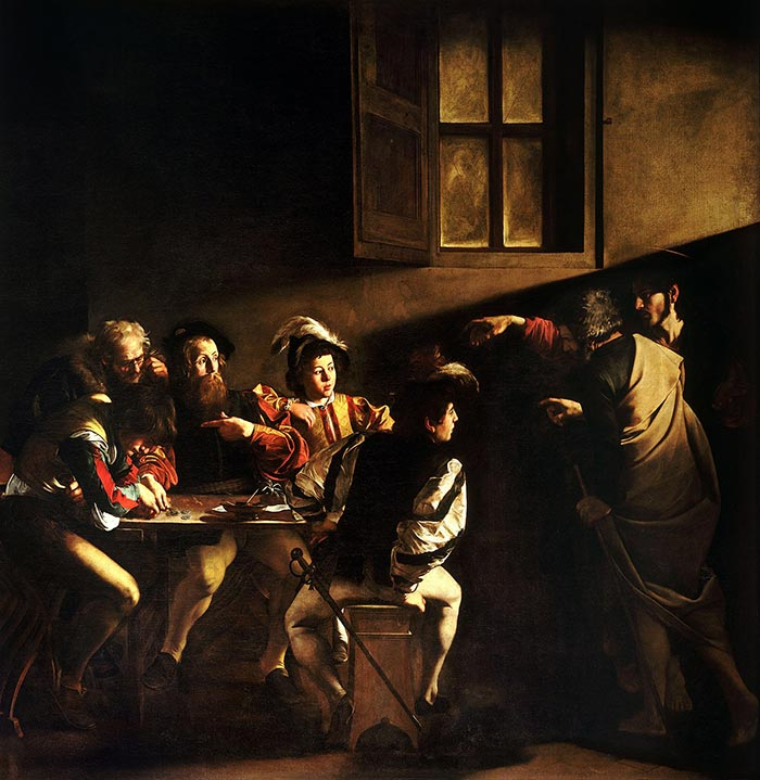 Caravaggio, The Calling of Saint Matthew, 1599-1600