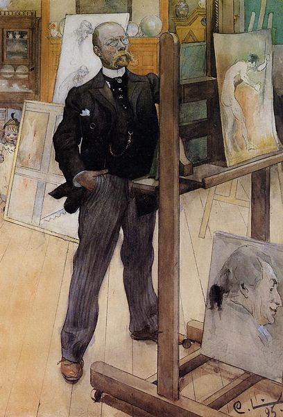 Carl Larsson, Self-Portrait, 1895