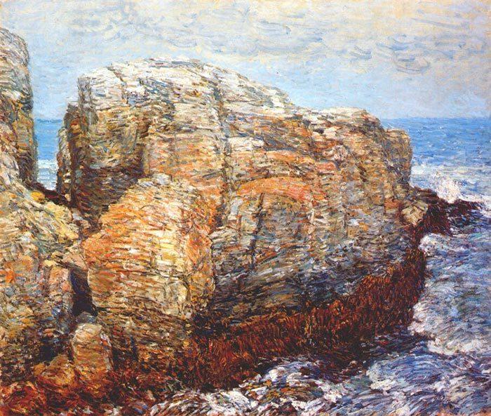 Childe Hassam, Rocks, 1907