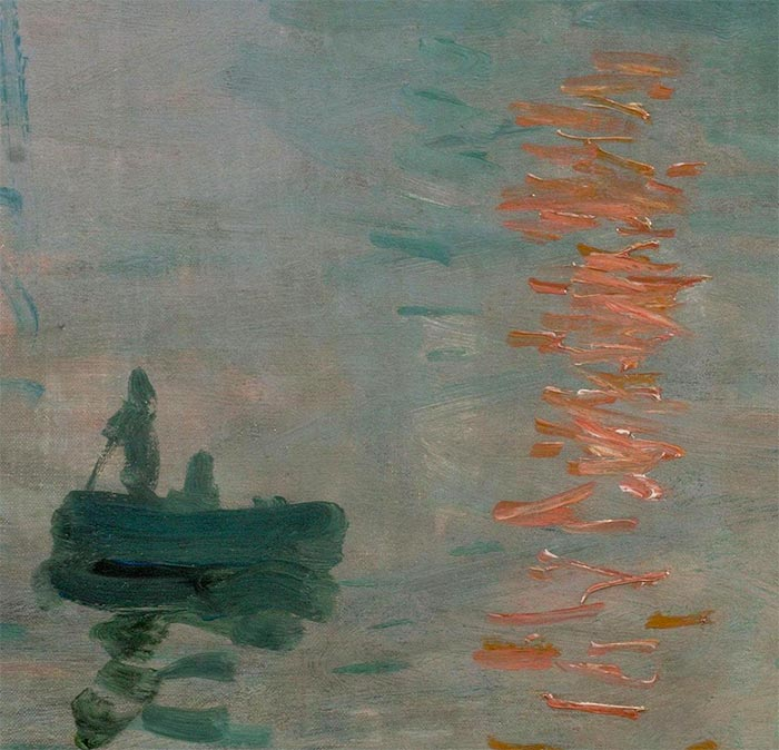 Claude Monet, Impression, Sunrise, 1872 (closeup 1)