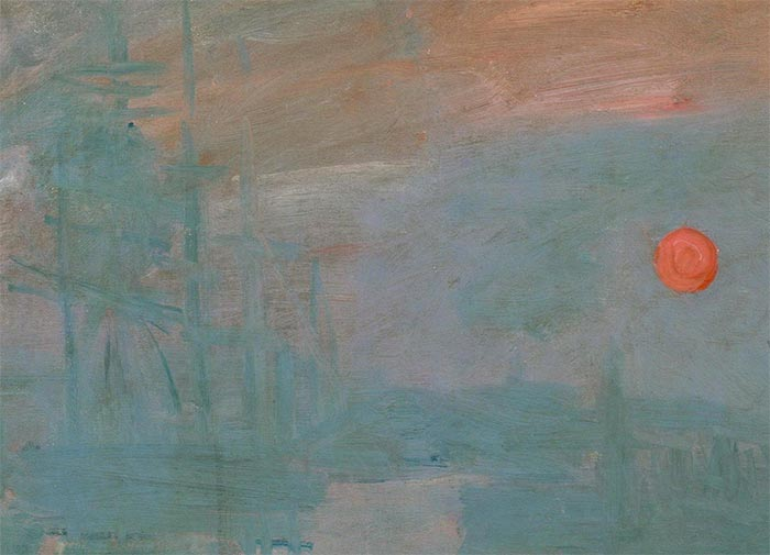 Claude Monet, Impression, Sunrise, 1872 (closeup 2)