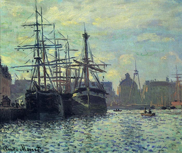Claude Monet, Le Bassin Du Commerce, Le Havre, 1874
