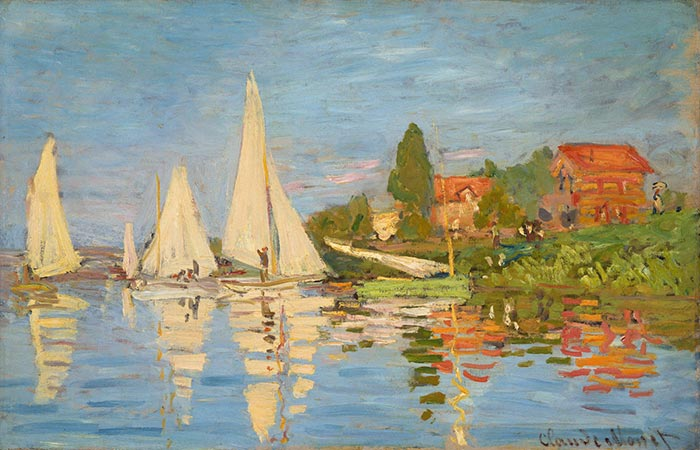 Claude Monet, Regatta At Argenteuil, 1872