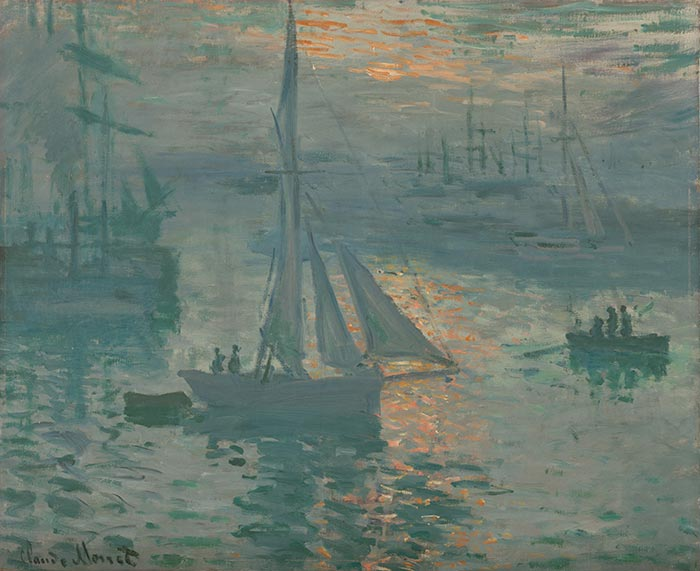 Claude Monet, Sunrise, Marine, 1873
