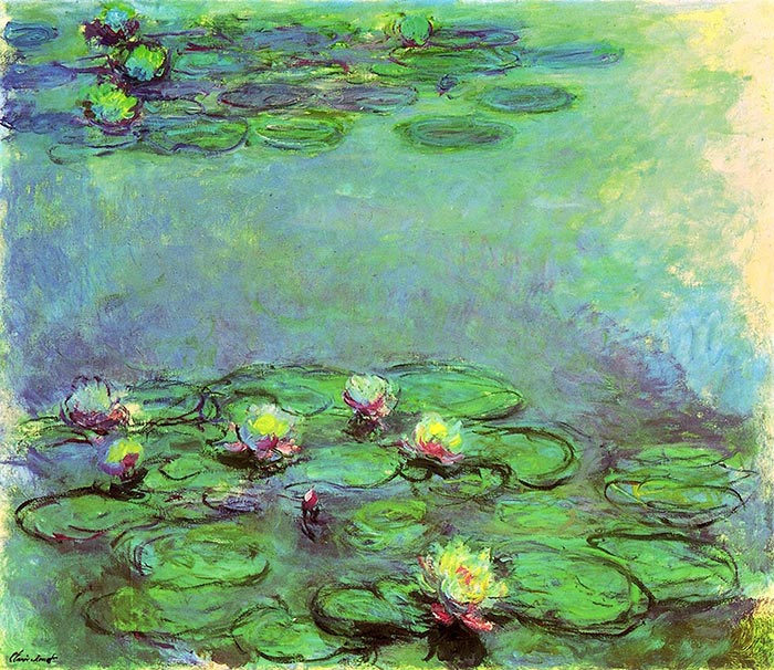 Claude Monet, Water Lilies, 1914-1917