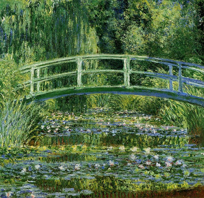 Claude Monet, Water Lilies and Japanese Bridge, 1897-1899