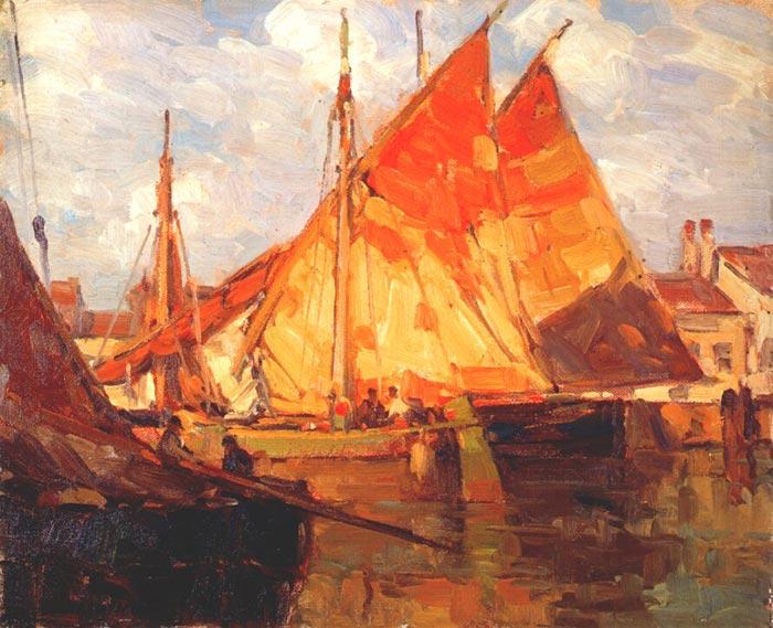 Edgar Alwin Payne, Boat Sardines
