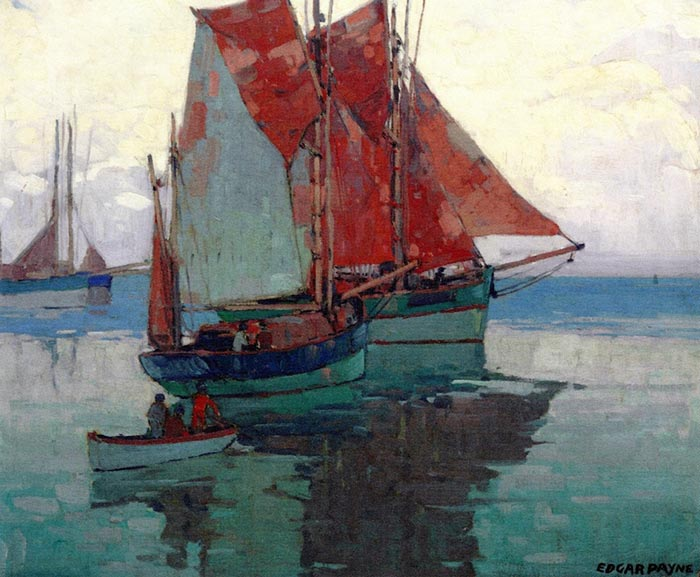Edgar Alwin Payne, Calm Sea