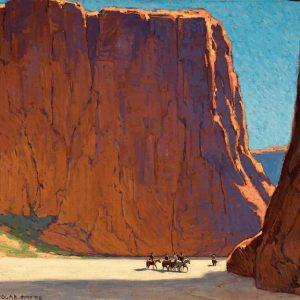 Edgar Alwin Payne, Sunset, Canyon De Chelly, 1916