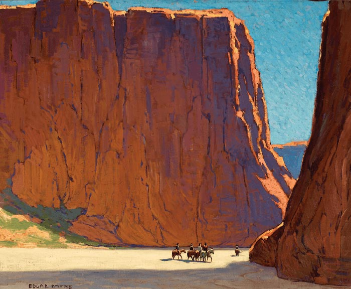 Edgar Alwin Payne, Sunset, Canyon De Chelly, 1916