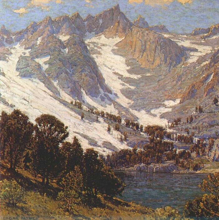 Edgar Alwin Payne, The Rugged Slopes and Larch