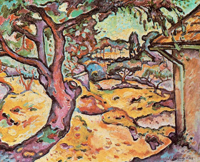 Georges Braque, L'Olivier Près De L'Estaque (The Olive Tree near L'Estaque), 1906