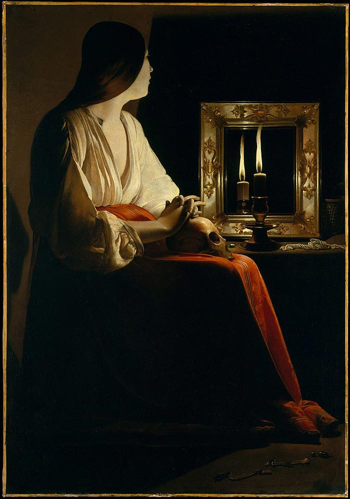 Georges de La Tour, The Penitent Magdalene, 1625-1650