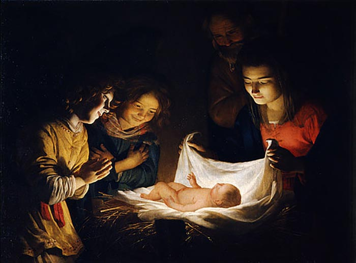 Gerard van Honthorst, The Adoration of the Child, 1620