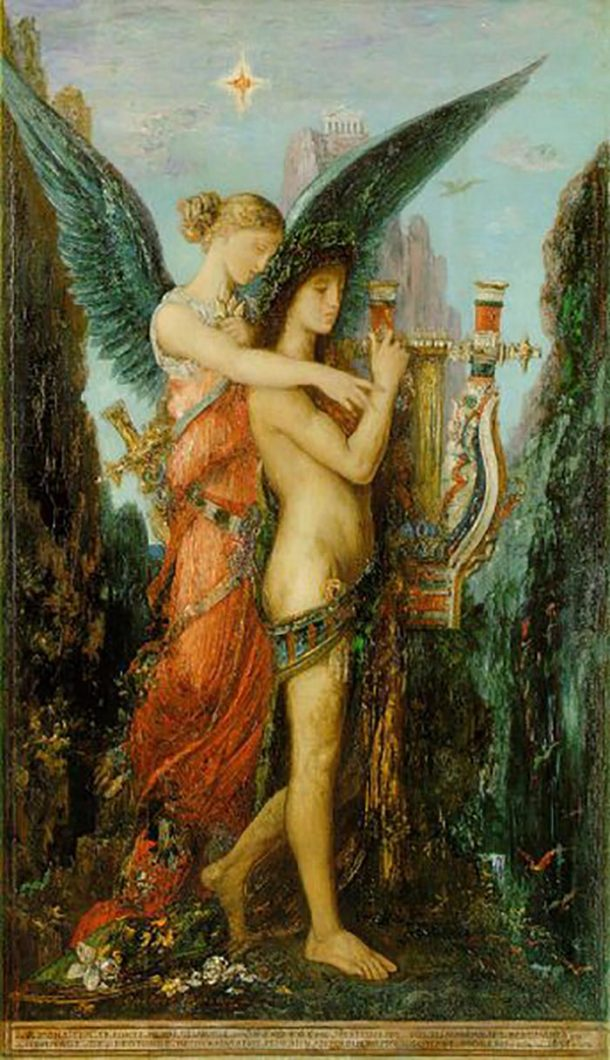 Gustave Moreau, Hesiod and the Muse, 1891