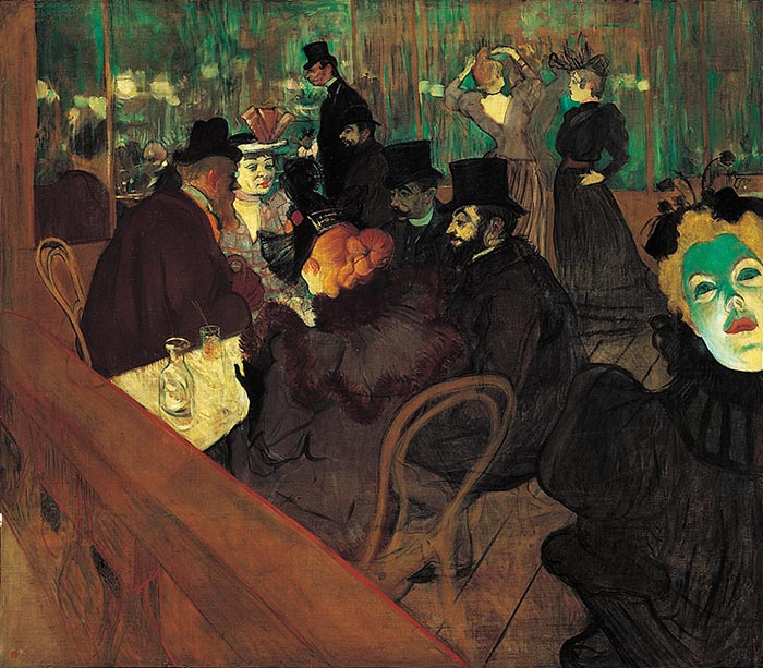 Henri de Toulouse-Lautrec, At the Moulin Rouge, 1892-1895